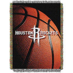 Houston Rockets NBA Woven Tapestry Throw Blanket (48x60)