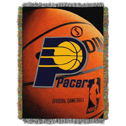 Indiana Pacers NBA Woven Tapestry Throw Blanket (48x60