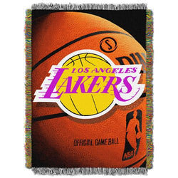 Los Angeles Lakers NBA Woven Tapestry Throw Blanket (48x60