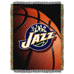 Utah Jazz NBA Woven Tapestry Throw (48x60