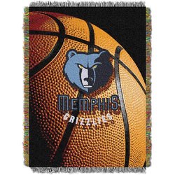 Memphis Grizzlies NBA Woven Tapestry Throw (48x60