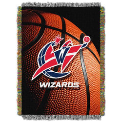 Washington Wizards NBA Woven Tapestry Throw Blanket (48x60