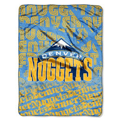 Denver Nuggets NBA Micro Raschel Blanket (Redux Series) (46in x 60in)