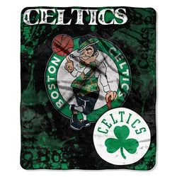 Boston Celtics NBA Royal Plush Raschel Blanket (Drop Down Series) (50x60