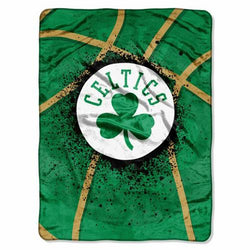 Boston Celtics NBA Royal Plush Raschel Blanket (Shadow Series) (60x80