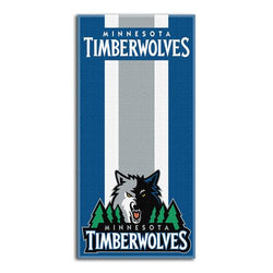 Minnesota Timberwolves NBA Zone Read Cotton Beach Towel (30in x 60in)