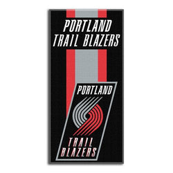 Portland Trail Blazers NBA Zone Read Cotton Beach Towel (30in x 60in)