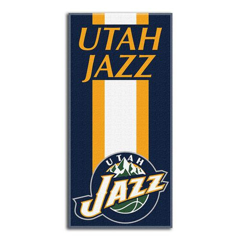 Utah Jazz NBA Zone Read Cotton Beach Towel (30in x 60in)