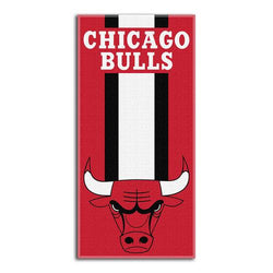 Chicago Bulls NBA Zone Read Cotton Beach Towel (30in x 60in)