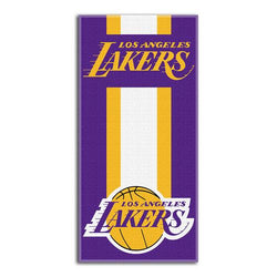 Los Angeles Lakers NBA Zone Read Cotton Beach Towel (30in x 60in)