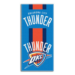 Oklahoma City Thunder NBA Zone Read Cotton Beach Towel (30in x 60in)