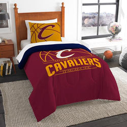 Cleveland Cavaliers NBA Twin Comforter Set (Reverse Slam Series) (64 x 86
