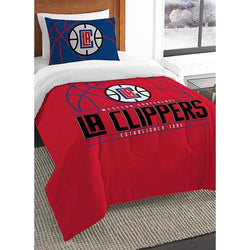 Los Angeles Clippers NBA Twin Comforter Set (Reverse Slam Series) (64 x 86