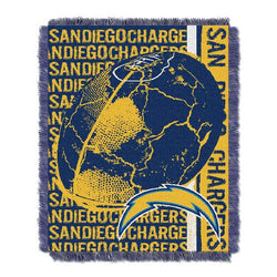 San Diego Chargers NFL Triple Woven Jacquard Throw (Double Play) (48x60