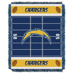 San Diego Chargers NFL Triple Woven Jacquard Throw (Field Baby Series) (36x48