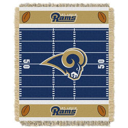 St. Louis Rams NFL Triple Woven Jacquard Throw (Field Baby Series) (36x48