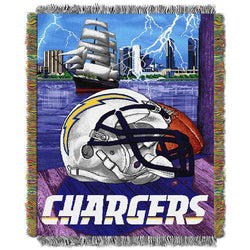 San Diego Chargers NFL Woven Tapestry Throw (Home Field Advantage) (48x60