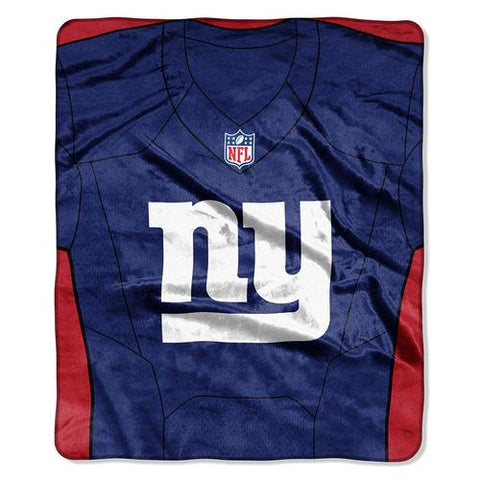 New York Giants NFL Royal Plush Raschel Blanket (Jersey Raschel) (50in x 60in)