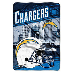 San Diego Chargers NFL Stagger Oversized Micro Raschel (62in x 90in)