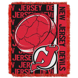 New Jersey Devils NHL Triple Woven Jacquard Throw (Double Play Series) (48x60