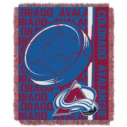 Colorado Avalanche NHL Triple Woven Jacquard Throw (Double Play Series) (48x60