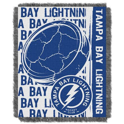 Tampa Bay Lightning NHL Triple Woven Jacquard Throw (Double Play Series) (48x60