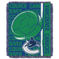 Vancouver Canucks NHL Triple Woven Jacquard Throw (Double Play Series) (48x60