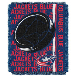 Columbus Blue Jackets NHL Triple Woven Jacquard Throw (Double Play Series) (48x60