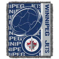 Winnipeg Jets NHL Triple Woven Jacquard Throw (Double Play Series) (48x60