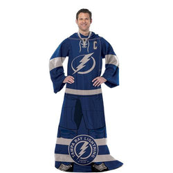 Tampa Bay Lightning NHL Adult Uniform Comfy Throw Blanket w/ Sleeves