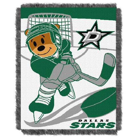 Dallas Stars NHL Triple Woven Jacquard Throw (Score Baby Series) (36x48