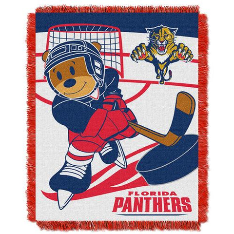 Florida Panthers NHL Triple Woven Jacquard Throw (Score Baby Series) (36x48