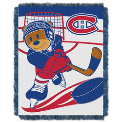 Montreal Canadiens NHL Triple Woven Jacquard Throw (Score Baby Series) (36x48