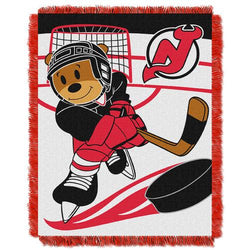 New Jersey Devils NHL Triple Woven Jacquard Throw (Score Baby Series) (36x48