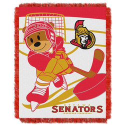 Ottawa Senators NHL Triple Woven Jacquard Throw (Score Baby Series) (36x48