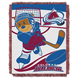 Colorado Avalanche NHL Triple Woven Jacquard Throw (Score Baby Series) (36x48