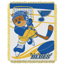 St. Louis Blues NHL Triple Woven Jacquard Throw (Score Baby Series) (36x48