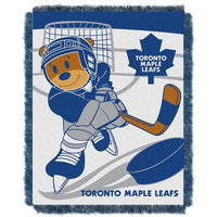 Toronto Maple Leafs NHL Triple Woven Jacquard Throw (Score Baby Series) (36x48