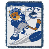 Vancouver Canucks NHL Triple Woven Jacquard Throw (Score Baby Series) (36x48