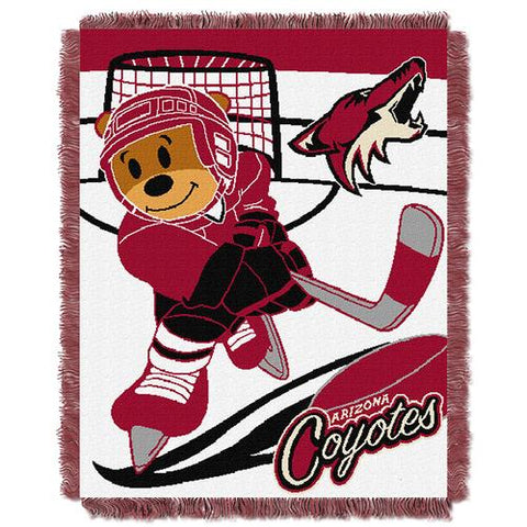 Phoenix Coyotes NHL Triple Woven Jacquard Throw (Score Baby Series) (36x48