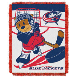 Columbus Blue Jackets NHL Triple Woven Jacquard Throw (Score Baby Series) (36x48