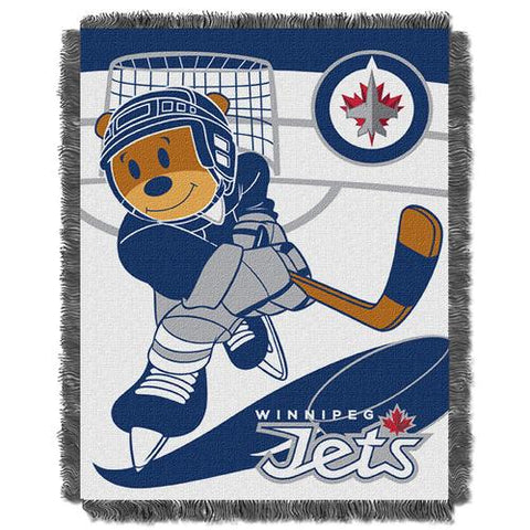 Winnipeg Jets NHL Triple Woven Jacquard Throw (Score Baby Series) (36x48
