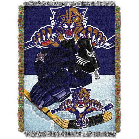 Florida Panthers NHL Triple Woven Jacquard Throw (48x60