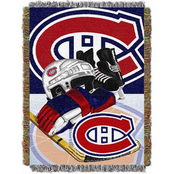 Montreal Canadiens NHL Woven Tapestry Throw Blanket (Home Ice Advantage) (48x60