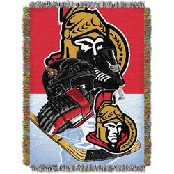 Ottawa Senators NHL Woven Tapestry Throw Blanket (Home Ice Advantage) (48x60