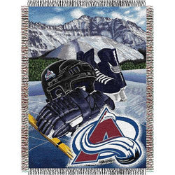 Colorado Avalanche NHL Woven Tapestry Throw Blanket (48x60