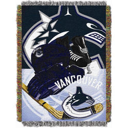 Vancouver Canucks NHL Woven Tapestry Throw Blanket (Home Ice Advantage) (48x60