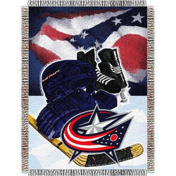 Columbus Blue Jackets NHL Woven Tapestry Throw (Home Ice Advantage) (48x60