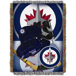 Winnipeg Jets NHL Woven Tapestry Throw (Home Ice Advantage) (48x60