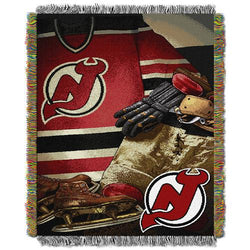 New Jersey Devils NHL Woven Tapestry Throw (Vintage Series) (48x60